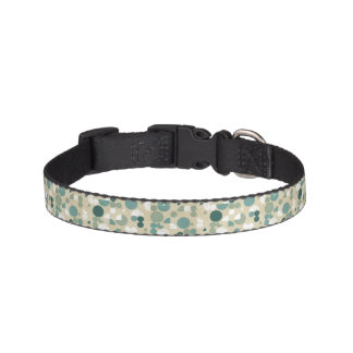 Abstract retro pattern pet collar