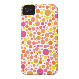 abstract retro polka dots iPhone 4 case