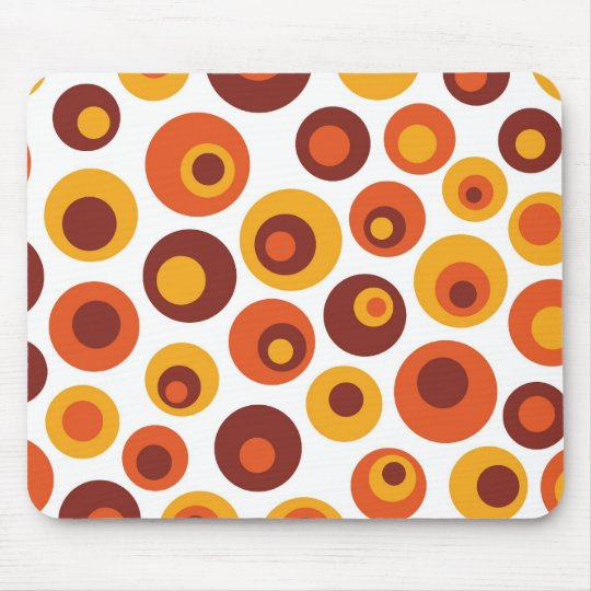 Abstract retro round mouse mat