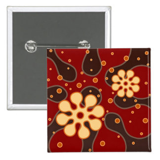 Abstract Retro Snowflakes Greeting Card in Red Pin