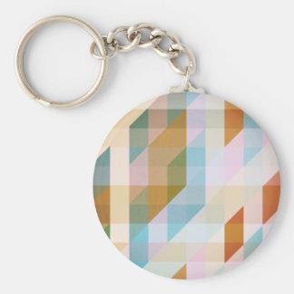 Abstract Retro Stripes Key Chain