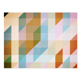 Abstract Retro Stripes Post Cards