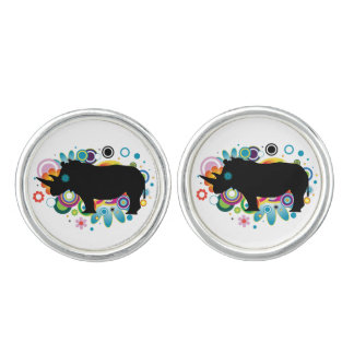 Abstract Rhino Cufflinks