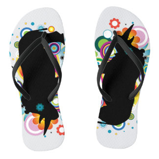 Abstract Rhino Flip Flops