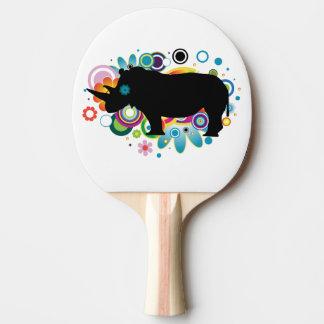 Abstract Rhino Ping Pong Paddle
