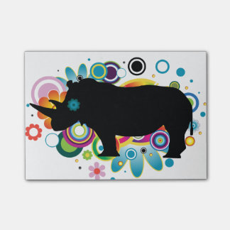 Abstract Rhino Post-it® Notes