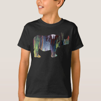 Abstract Rhinoceros silhouette T-Shirt