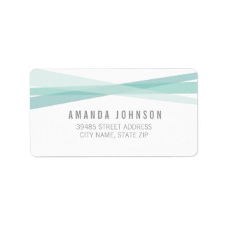 Abstract Ribbons Address Label