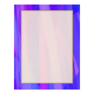 Abstract Ribbons of Blue and Violet 21.5 Cm X 28 Cm Flyer