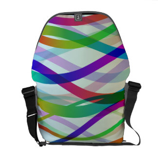 Abstract Ribbons of Colors Messenger Bag