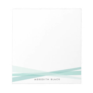 Abstract Ribbons Personalized Notepad