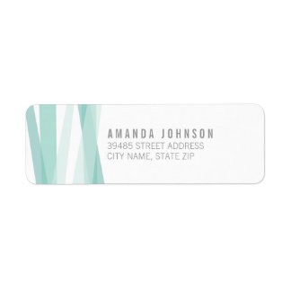 Abstract Ribbons Return Address Label