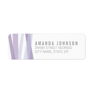 Abstract Ribbons Return Address Label - Purple