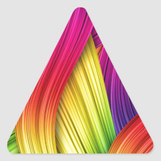 Abstract Ribbons Triangle Sticker