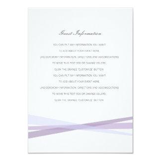 Abstract Ribbons Wedding Insert Card