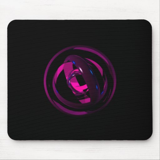 Abstract Rings Mouse Mats