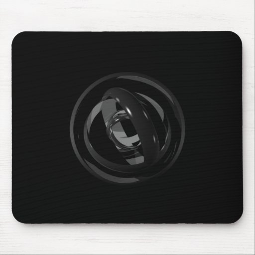 Abstract Rings Mouse Mat