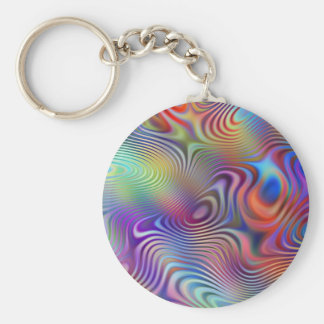 abstract rings pattern basic round button key ring