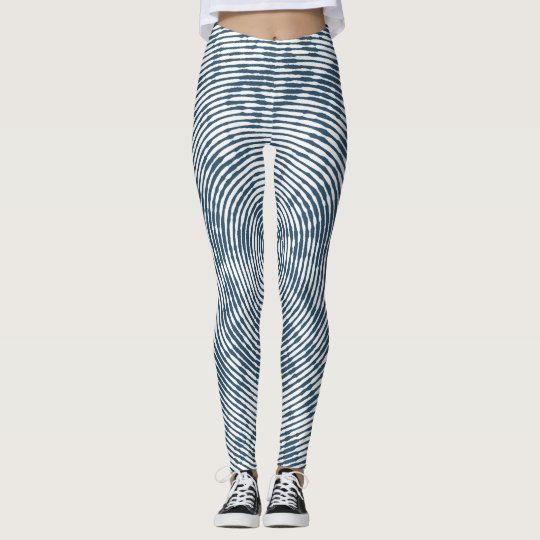 Abstract Ripple Effect Leggings