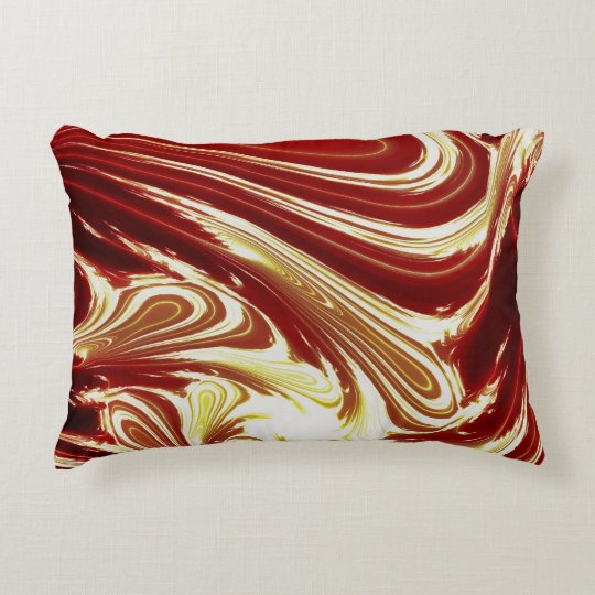 ABSTRACT RIVER WATER DECORATIVE CUSHION