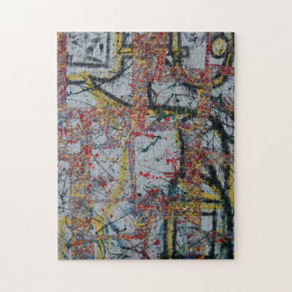 "ABSTRACT ROBOTS JIGSAW PUZZLE 11""X14"""
