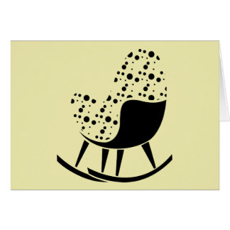 Abstract Rocking Chair Greeting Card