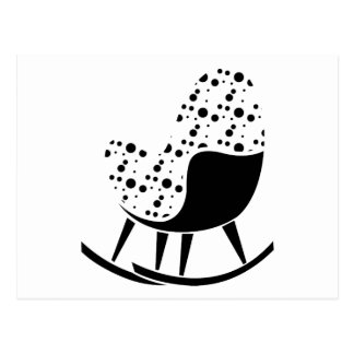 Abstract Rocking Chair Postcard