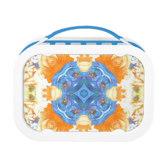 Abstract Romantic  Floral Pattern Lunch Box