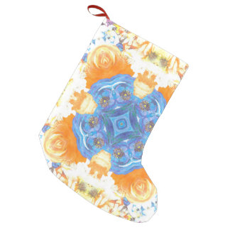 Abstract Romantic  Floral Pattern Small Christmas Stocking