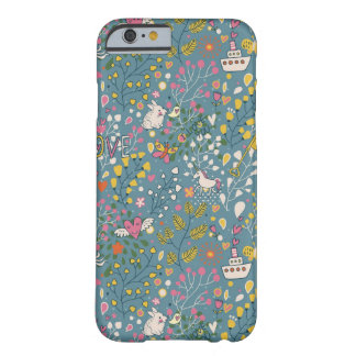 Abstract romantic pattern with cartoon barely there iPhone 6 case