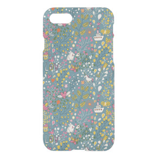 Abstract romantic pattern with cartoon iPhone 8/7 case