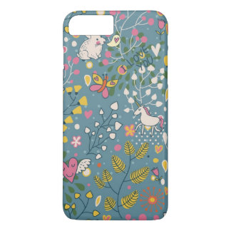 Abstract romantic pattern with cartoon iPhone 8 plus/7 plus case