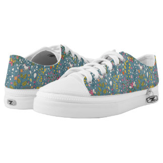 Abstract romantic pattern with cartoon low tops