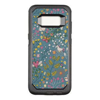 Abstract romantic pattern with cartoon OtterBox commuter samsung galaxy s8 case