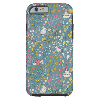 Abstract romantic pattern with cartoon tough iPhone 6 case