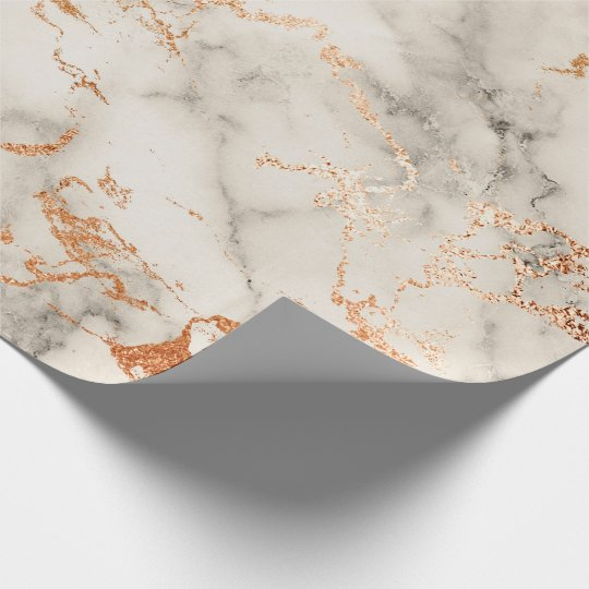 Abstract Rose Coral Blush Silver Gray Marble Stone