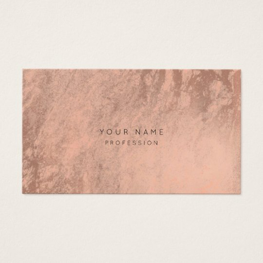 Abstract Rose Gold Pink Blush Appointment Card