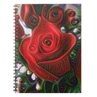Abstract Rose Notebook