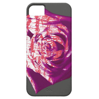 Abstract Rose on Grey iPhone 5 Cases