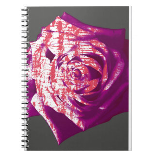 Abstract Rose on Grey Spiral Notebook