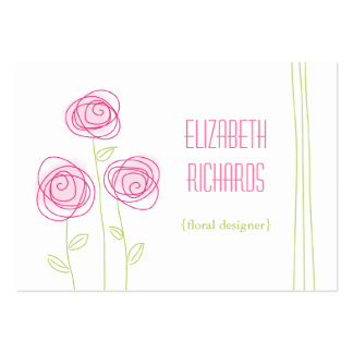 Abstract Roses Chubby Business Card