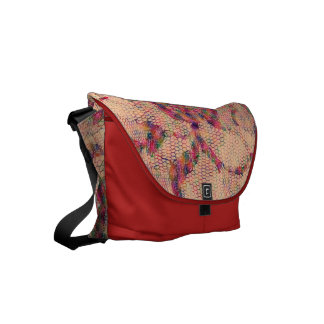 Abstract Roses Commuter Bags