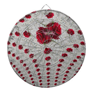 abstract roses dartboard
