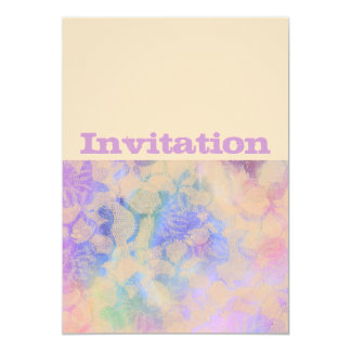 Abstract Roses In Pastel Colors 13 Cm X 18 Cm Invitation Card
