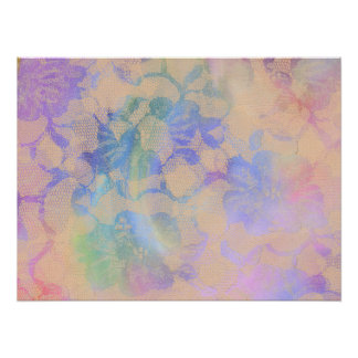 Abstract Roses In Pastel Colors Poster