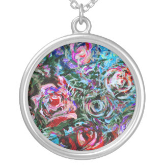 Abstract roses Pendant