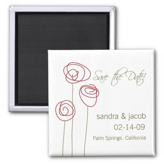 Abstract Roses- Personalise it! Magnet