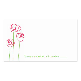 Abstract Roses Place Cards Business Card