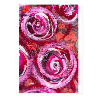 Abstract roses postcard