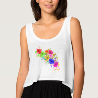 Abstract Roses Tank Top